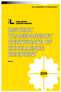 District Transparency Certificate of Excellence Program 2019